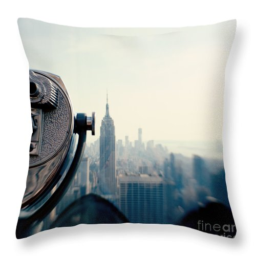 Nyc Throw Pillow featuring the photograph Empire State Building NYC by Kim Fearheiley
