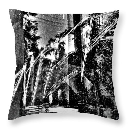 Street Photography Photographs Framed Prints Photographs Framed Prints Throw Pillow featuring the photograph Enter by The Artist Project