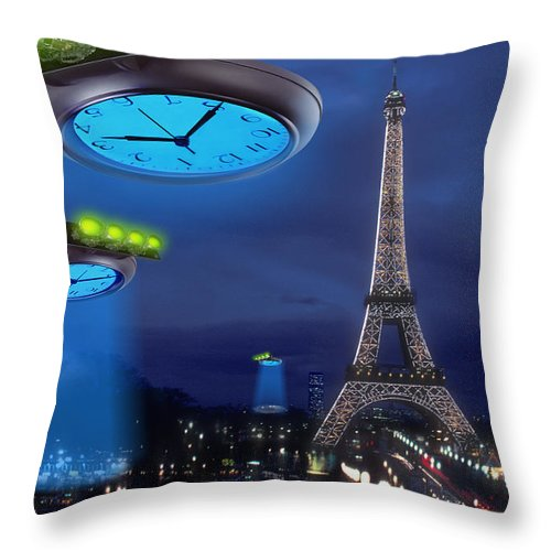 European Time Traveler Throw Pillow featuring the photograph European Time Traveler by Mike McGlothlen