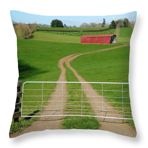 Agriculture Throw Pillow featuring the photograph Farming Scene by Les Cunliffe