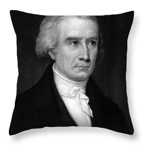 Science Throw Pillow featuring the photograph Francois Arago, French Astronomer by Science Source