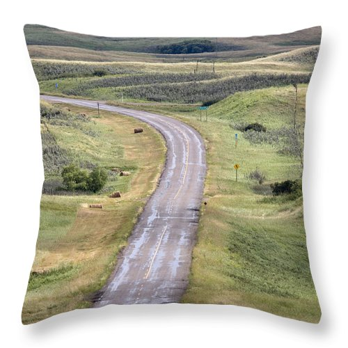 Old Throw Pillow featuring the photograph Ghost Town Galilee Saskatchewan by Mark Duffy