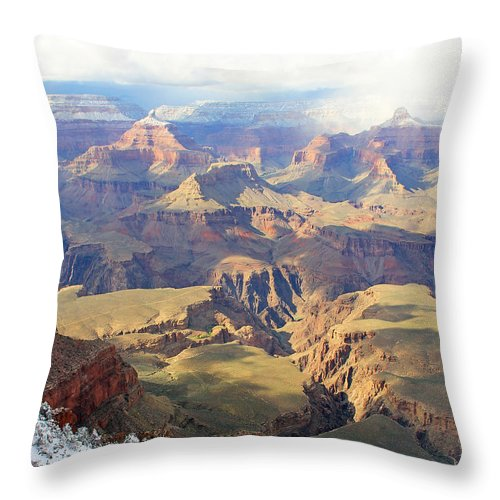 Grand Canyon Throw Pillow featuring the photograph Grand Canyon by Jack Schultz
