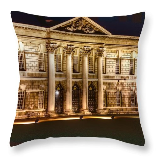 Greenwich Throw Pillow featuring the photograph Greenwich Royal Naval College by David French