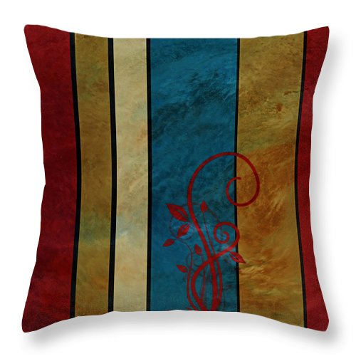 Contemporary Throw Pillow featuring the digital art Growth by Bonnie Bruno