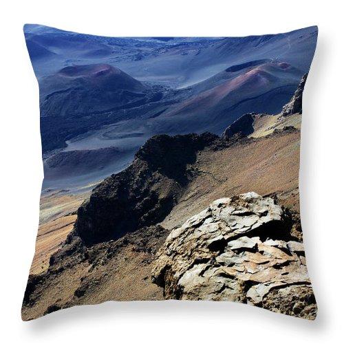 Haleakala Crater Throw Pillow featuring the photograph Haleakala Crater by Bob Christopher