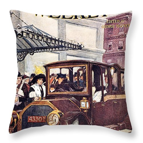 1913 Throw Pillow featuring the photograph Harpers Weekly, 1913 by Granger