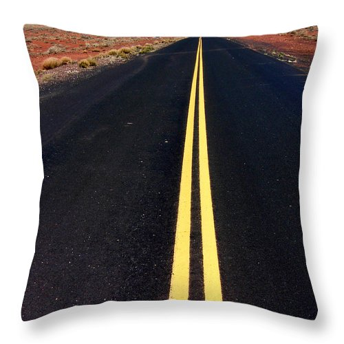 Highway Throw Pillow featuring the photograph Highway To Nowhere by Mike Nellums