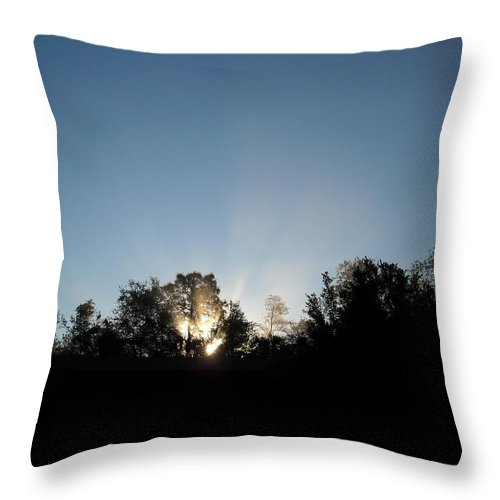 Silhouette Throw Pillow featuring the photograph Home Sweet Home by Christine Stonebridge