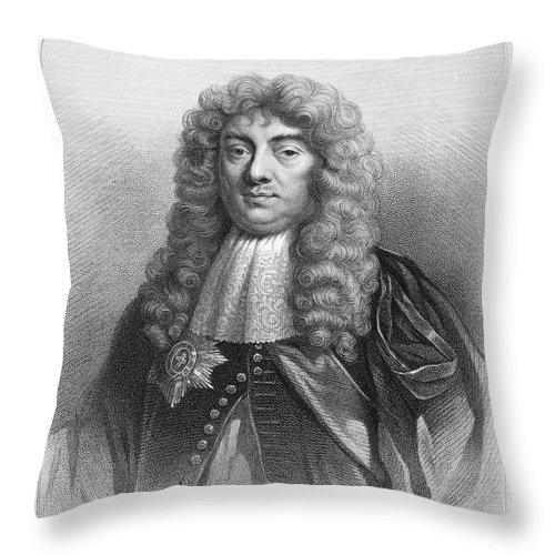 1st Throw Pillow featuring the photograph John Maitland (1616-1682) by Granger