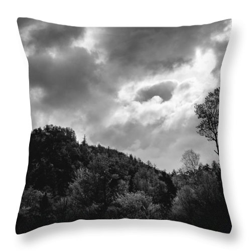 Clouds Throw Pillow featuring the photograph Just Before The Rain by Guy Whiteley