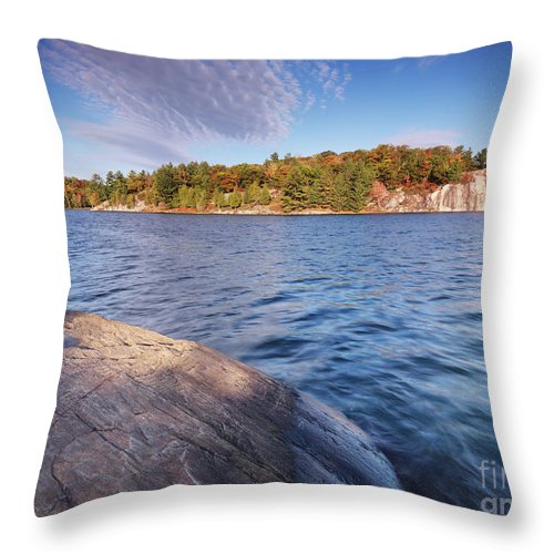 Lake Throw Pillow featuring the photograph Killarney Provincial Park In Fall by Oleksiy Maksymenko