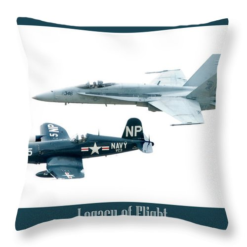 Airshow Throw Pillow featuring the photograph Legacy Of Flight by Greg Fortier