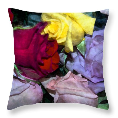 Rose Throw Pillow featuring the photograph Look Of Romance by Angelina Vick