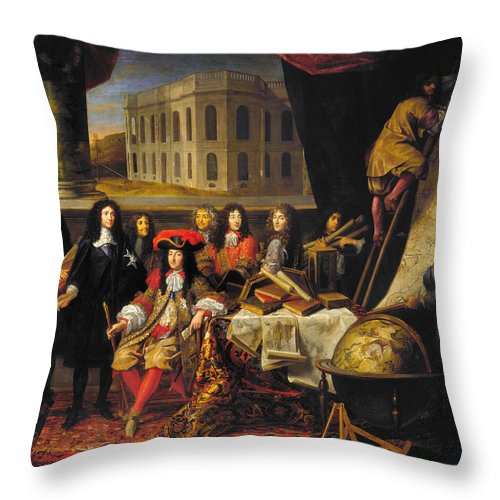 1666 Throw Pillow featuring the photograph Louis Xiv (1638-1715) by Granger
