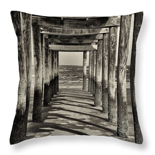 Beach Throw Pillow featuring the photograph Low Tide by Phill Doherty