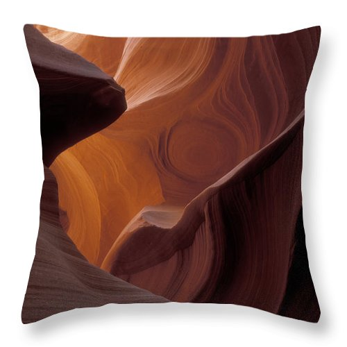 Bronstein Throw Pillow featuring the photograph Lower Antelope Canyon by Sandra Bronstein