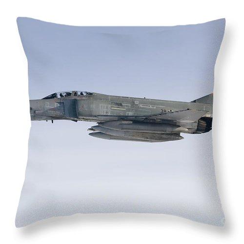 F-4 Phantom Throw Pillow featuring the photograph Luftwaffe F-4f Phantom II by Gert Kromhout