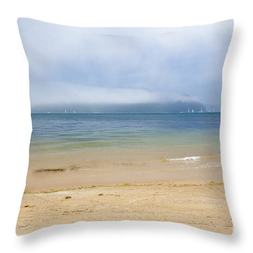 Mist Throw Pillow featuring the photograph Mist Over Pittwater by Sheila Smart Fine Art Photography
