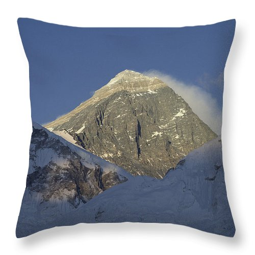 Asia Throw Pillow featuring the photograph Mount Everest Standing At 29,028 Feet by Michael S. Lewis