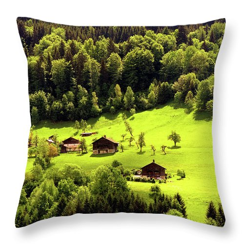 Landscapes Throw Pillow featuring the photograph Mountains by Olivier De Rycke