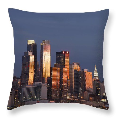 Buildings Throw Pillow featuring the photograph New York City, New York, United States by Axiom Photographic