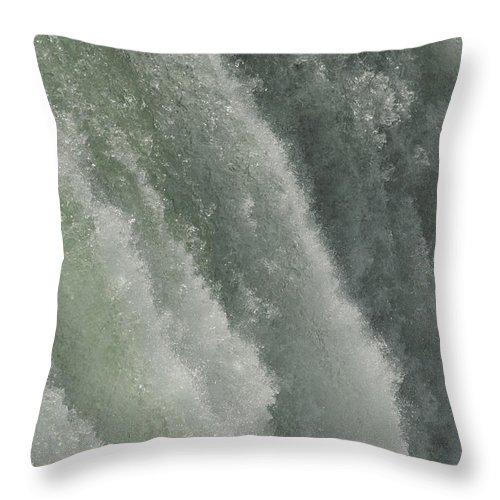 Niagara Falls Throw Pillow featuring the photograph Niagara Falls, American Side by Tim Laman
