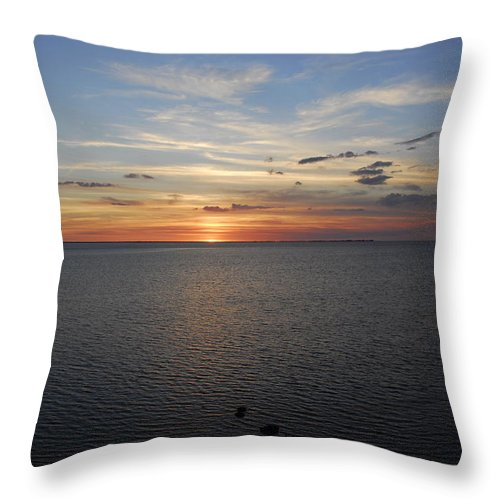 Beach Throw Pillow featuring the photograph Observation Tower Sunset by G Adam Orosco