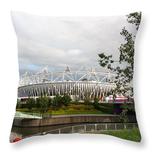 Dawn Oconnor Throw Pillow featuring the photograph Olympic Park by Dawn OConnor