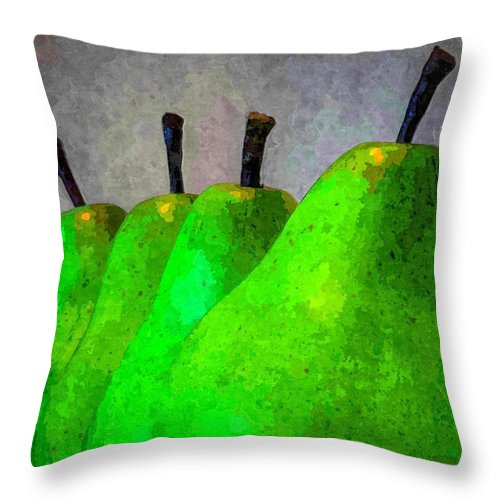 Pears Throw Pillow featuring the photograph Pears by Kelly Bryant