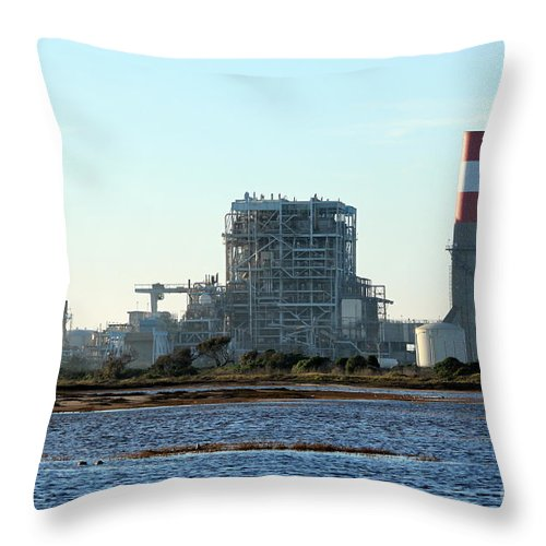 Industry Throw Pillow featuring the photograph Power Station by Henrik Lehnerer