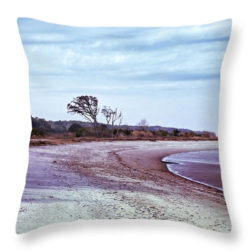 Beach Throw Pillow featuring the digital art Quiet Cove by Phill Doherty