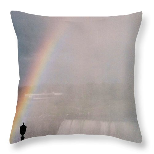 Waterfall Throw Pillow featuring the photograph Rainbow Falls by Pharris Art