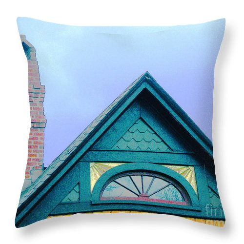Gable Throw Pillow featuring the digital art Randles Gable by Lizi Beard-Ward