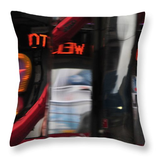 Reflections Throw Pillow featuring the photograph Reflections... by Mike Martin