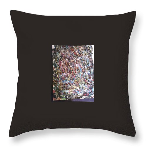 Abstract Throw Pillow featuring the painting Return Home by Jerry Conner