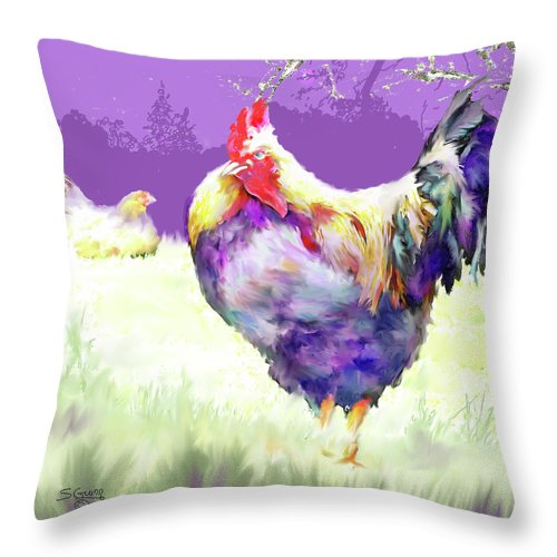 Bird Throw Pillow featuring the photograph Rooster by Shane Guinn