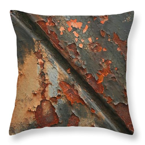 Rust Throw Pillow featuring the photograph Rust II by Winston Rockwell