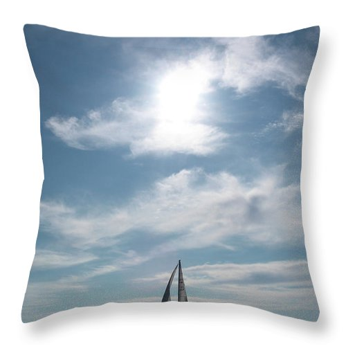 Jouko Lehto Throw Pillow featuring the photograph Sailing by Jouko Lehto