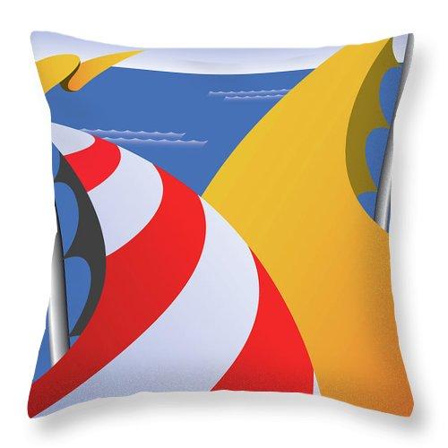 Sailing Throw Pillow featuring the digital art Sails by Joe Barsin