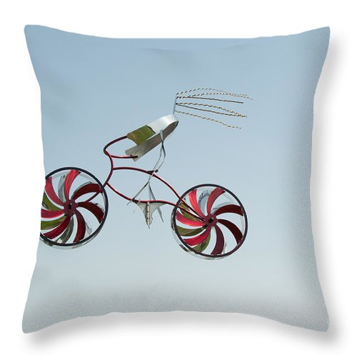Artistic Sculpture Throw Pillow featuring the digital art San Diego Waterfront by Carol Ailles
