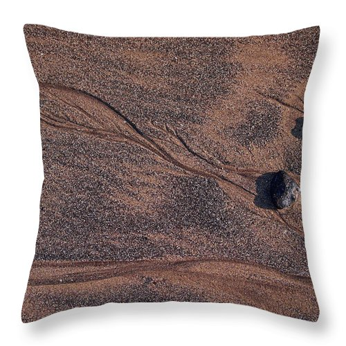 Canary Islands Throw Pillow featuring the photograph Sandmaps by Jouko Lehto