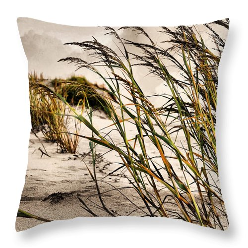 Sea Oats Throw Pillow featuring the photograph Sea Oats by Kristin Elmquist