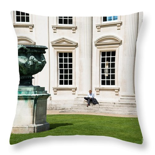 Cambridge Throw Pillow featuring the photograph Senate House by Andrew Michael