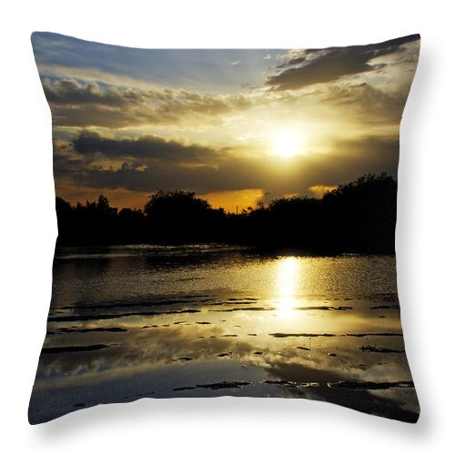 Sunset Throw Pillow featuring the photograph Serene Sunset by Saija Lehtonen
