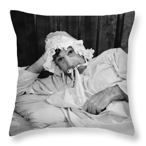 -bedrooms- Throw Pillow featuring the photograph Silent Still: Bedroom by Granger
