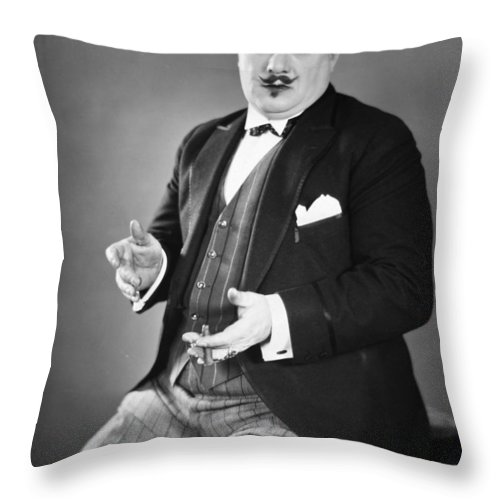 -man Single- Throw Pillow featuring the photograph Silent Still: Single Man by Granger