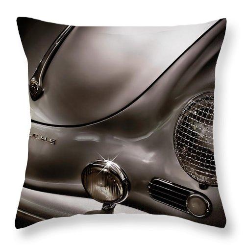 Porsche Throw Pillow featuring the digital art Silver Ghost by Douglas Pittman