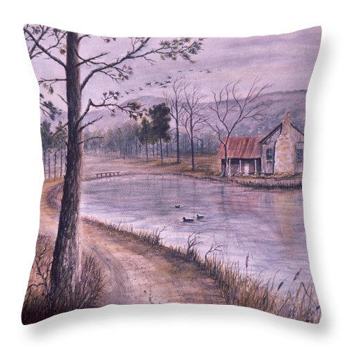 Morning Throw Pillow featuring the painting South Carolina Morning by Ben Kiger