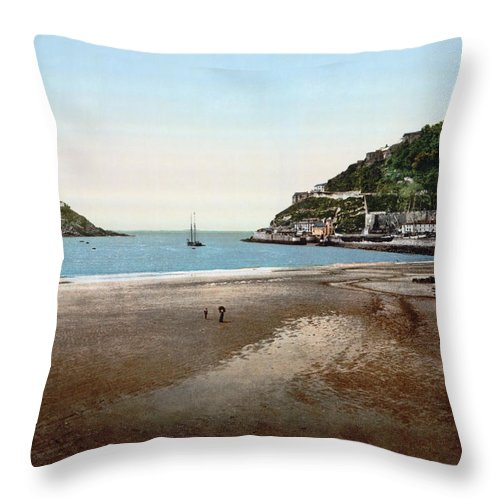 1890 Throw Pillow featuring the photograph Spain: San Sebastian by Granger